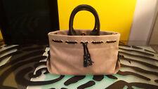 Dooney & Bourke Women's Handbag Beige Canvas and Leather good condition