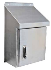 316 Stainless Steel Enclosure 400h x 400w x 270d with Sloping Roof IP66