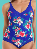 Pour Moi? Blue Flowers Control Swimsuit - BNWT - Free Postage (Size 10 or 12)
