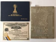 Aimee Semple McPherson Signed Diploma, Embossed Holder & 1939 L.I.F.E. Yearbook
