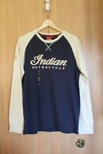 Indian Motorcycle Mens M Long Sleeve Race Raglan Tee NWT