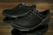 Ecco Golf Cage Black Gray Leather Golf Shoes Men's - Size US10-10.5/EU44