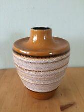 West German Pottery Vintage Vase 40-19 Brown & Cream 70's Retro Collectible