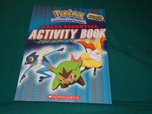 Pokemon: Kalos Essential Activity Book by Inc. Staff Scholastic 2015 Paperback