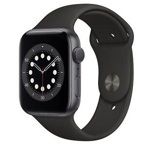 Apple Watch s6 Space Gray Aluminum Case Black sport band [ Read Description ]