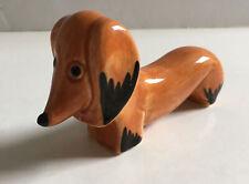 "More details for vintage art deco ceramic sausage dog dachshund figure signed ""a"" made england"