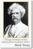 174144 Mark Twain Courage is resistance to fear Decor LAMINATED POSTER DE