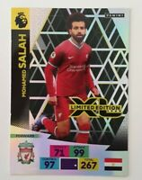 2020/21 PANINI Adrenalyn EPL Soccer Card - Mo Salah Limited Edition Liverpool