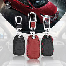 For Chevrolet Cruze 2017 Smart Remote Key Bag Case Fob Holder Chain Top Leather