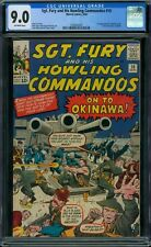 Sgt. Fury and His Howling Commandos 10 CGC 9.0 - OW Pages - 1st Captain Savage