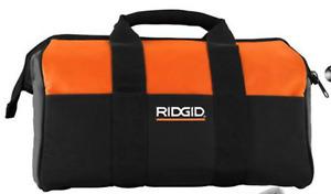 "Ridgid 23""  X 10 "" X 12"" Large Heavy Duty 6 Pocket Tool Bag (NEW FROM KIT)"