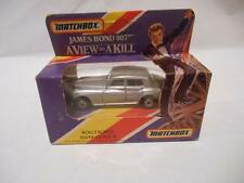 "Matchbox 1985 James Bond 007 A View to a Kill ""ROLLS' ROYCE SILVER CLOUD II"" New"