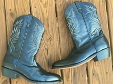 Laredo Cowboy Western Boots Mens 13 D Black Leather