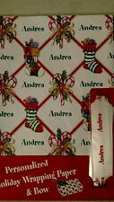 Personalized gift wrap wrapping Christmas xmas NIP Andrea stockings