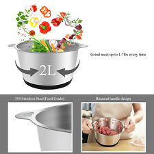 Us 300W Stainless steel 2L Capacity Electric Chopper Meat/Food Grinder Mincer