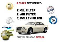 FOR CHRYSLER 300C 3.5 5.7 6.1 SRT 2005-> SERVICE KIT OIL AIR POLLEN 3 FILTER SET