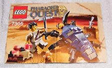 2011 LEGO Pharaoh's Quest Scarab Attack 7305 INSTRUCTION MANUAL ONLY