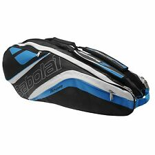 BABOLAT TEAM LINE 6 (SIX) RACKET TENNIS BAG BLUE BLACK , PADEL OR TRAVEL