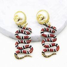 Women luxury jewelry vintage Snake pearls crystals Long stud baroque Earrings
