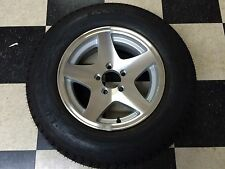 "15"" 5 STAR ALUMINUM TRAILER RIM & TIRE WHEEL 3S649"