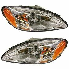 Halogen Headlight Set For 2000-2007 Ford Taurus Left & Right w/ Bulb(s) Pair