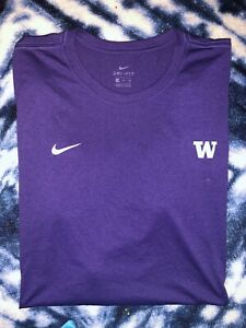 NEW Nike Washington Huskies Mens Purple Dri Fit Long Sleeve Shirt 4XL