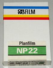 ORWO NP22 cut sheet film 6.5x9cm