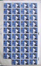 1971 GB 3p FRANCOBOLLI SG 884, John Keats 1795-1821, blocco di 39 (4x10 -1), Gomma integra, non linguellato