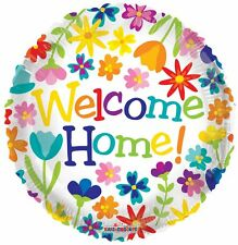 WELCOME HOME SPRING FLOWERS FOIL BALLOON FLORAL 43CM PARTY DECORATION