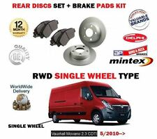 FOR VAUXHALL OPEL MOVANO 2.3 CDTI 2010--> NEW REAR BRAKE DISCS SET +  PADS KIT