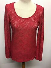 Next Essentials Pink Long Sleeve Lace Top, BNWT, Size 14