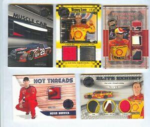 5 CARD KEVIN HARVICK RACE USED CARD LOT