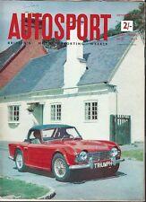 Autosport September 1st 1961 *New Triumph TR4*