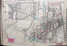 1942 Delaware Co Pa Upper Darby Clifton Heights School Alden Station Atlas Map