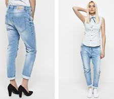 BNWT Diesel Eazee Relaxed Boyfriend Low Waist Jeans W26 L32 Light Blue UK 8 10