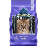 Blue Buffalo Wilderness High Protein, Natural Kitten Dry Cat Food, Chicken 2-lb