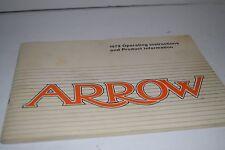 Vintage 1979 Chrysler Arrow  Operator's Manual