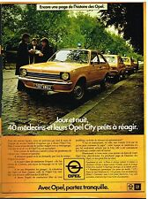 Publicité Advertising 1977 Opel City