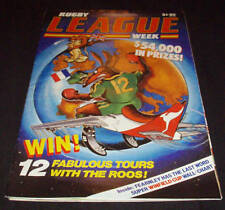 Rugby League Week Newspaper/Magazine Vol 17 No 2  1986