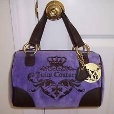 NWT Juicy Couture CREST Velour ROYAL Satchel Bag VIOLET