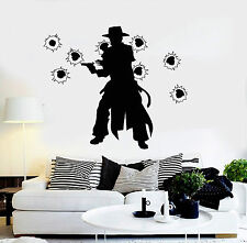 Vinyl Wall Decal Cowboy with Gun Wild West Kids Room Stickers Mural (ig4080)