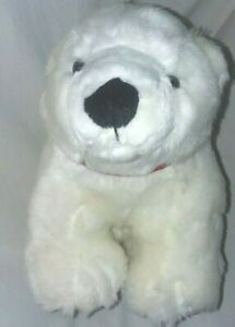 "Borders Princess Marshmallow Polar Bear 14"" Plush So Soft Toy Stuffed Animal"