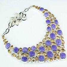 hecho a mano Arcoiris Mosaico jaspe Plata de ley 925 Collar 45.7cm h00056