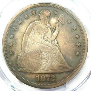1872 PROOF Seated Liberty Silver Dollar $1 Coin - PCGS Proof AU Details (PR/PF)!