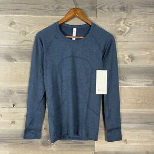 NWT Lululemon Womens True Navy/Iron Blue Swiftly Long Sleeve 2.0 Shirt