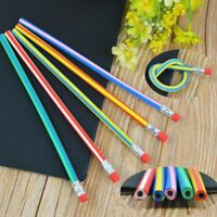 1Pcs Magic Bendy Flexible Soft Pencil with Eraser Student School Office Use