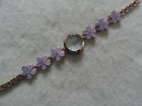 Ladies Quartz Watch with a Pink Flower Band