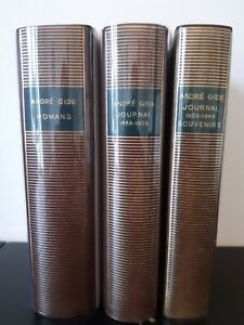 PLEIADE - André Gide - 3 tomes - Romans, Journal en 2 tomes