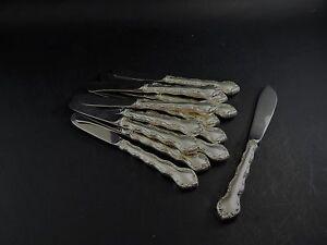 Set 12 Reed & Barton Butter Spreader Knives & Master Rose Arbor Pattern NO Mono