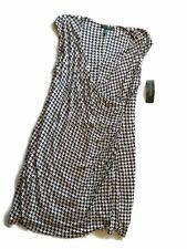 LAUREN Ralph Lauren Black White Pearl DRESS wrap PLUS Size 2X
